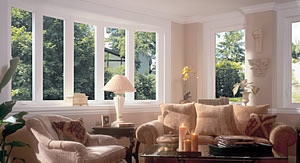 A living room with Keystone Window of Pennsylvania's Vinyl replacement windows.