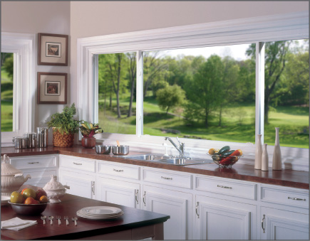 White 3-lite Slider Window