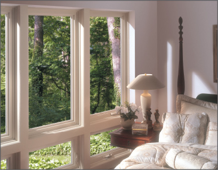Beige Casement windows with Awning Windows below