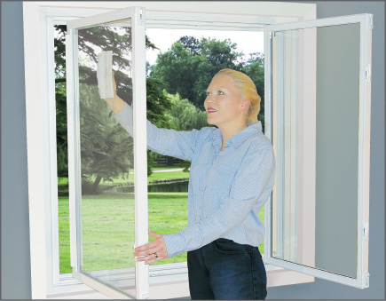 Tilt-N-Slide Slider Window Folds In For Easy Cleaning