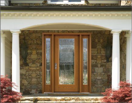Full-lite Woodgrain Fiber-Classic Entry Door