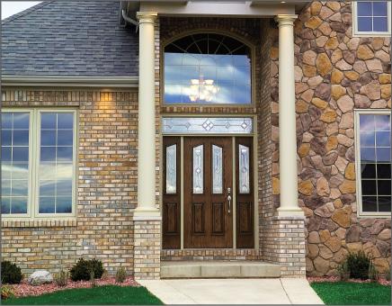 Double Half-Lite Woodgrain Classic-Craft Entry Door