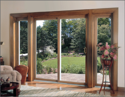Thermal-Glide Woodgrain Patio Door