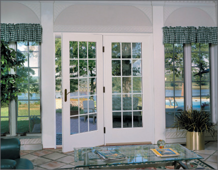 White Hinged Patio Door with Sidelite