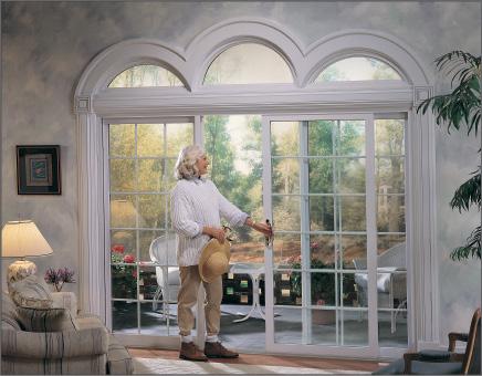 3-Lite White Sliding Patio Door